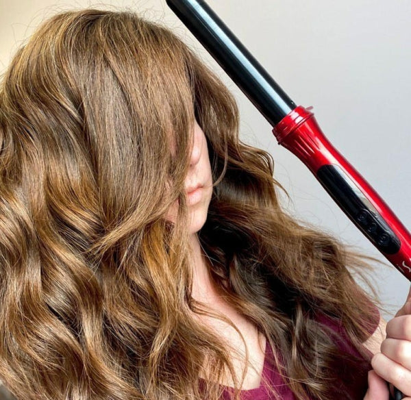 "Gorgeous Curls Created By @skylerrae.hair With ISA Professional Digital Titanium Ceramic Hair Curler Wand 1"" barrel 5 Year Warranty 