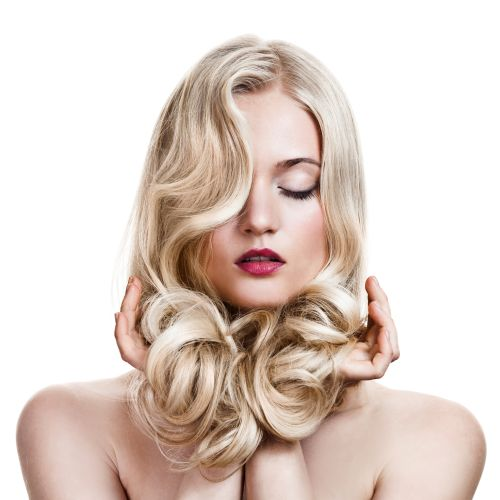 Gorgeous Curly Blonde Hair ISA Professional