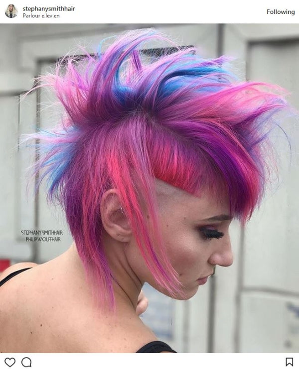 Blue and Pink Mohawk