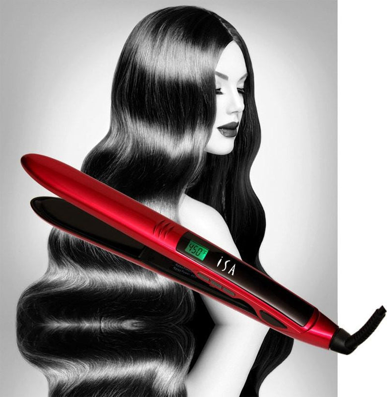Flat Iron Hair Straightener ISA Professional Digital Titanium