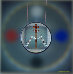 ArchAngel Michael Disc - Protects Against Psychic Attacks, Activates Throat and Base Charka, Assists n Communication, Offers Healing and Protection, Gives Courage and Strength to Face Any Challenge