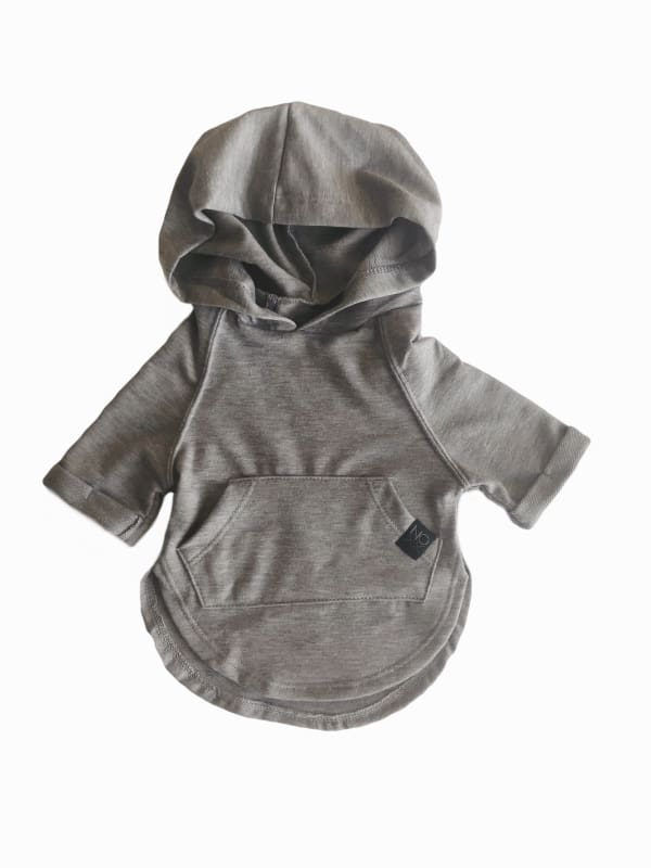 Heather Grey Hooded T-Shirt - Clothing