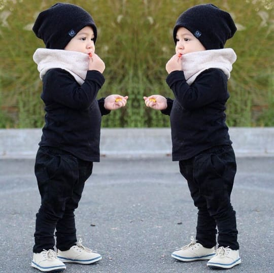 Black | Sweater Knit Beanie - Beanies