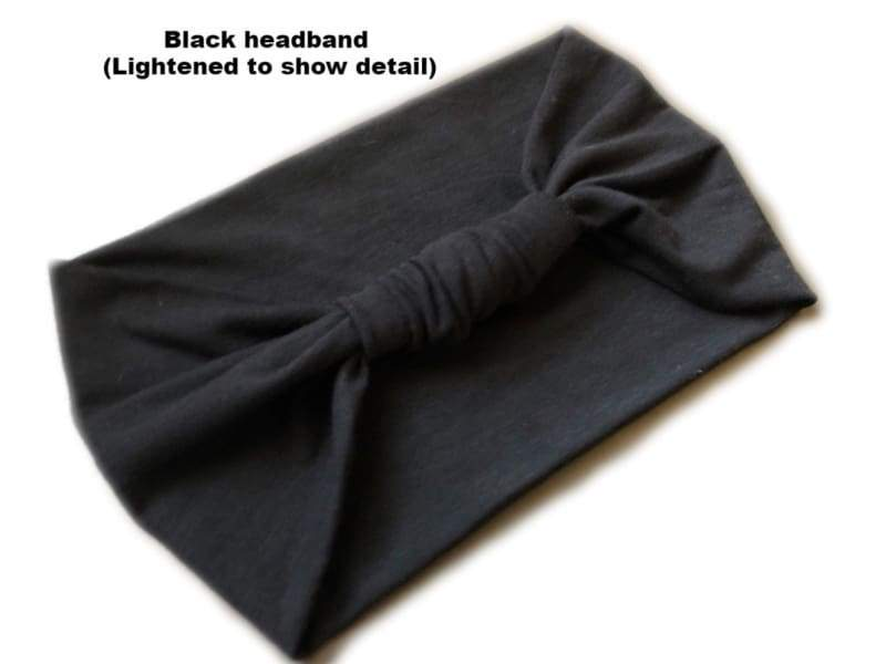 Black | Wide Turban Headband - Headbands
