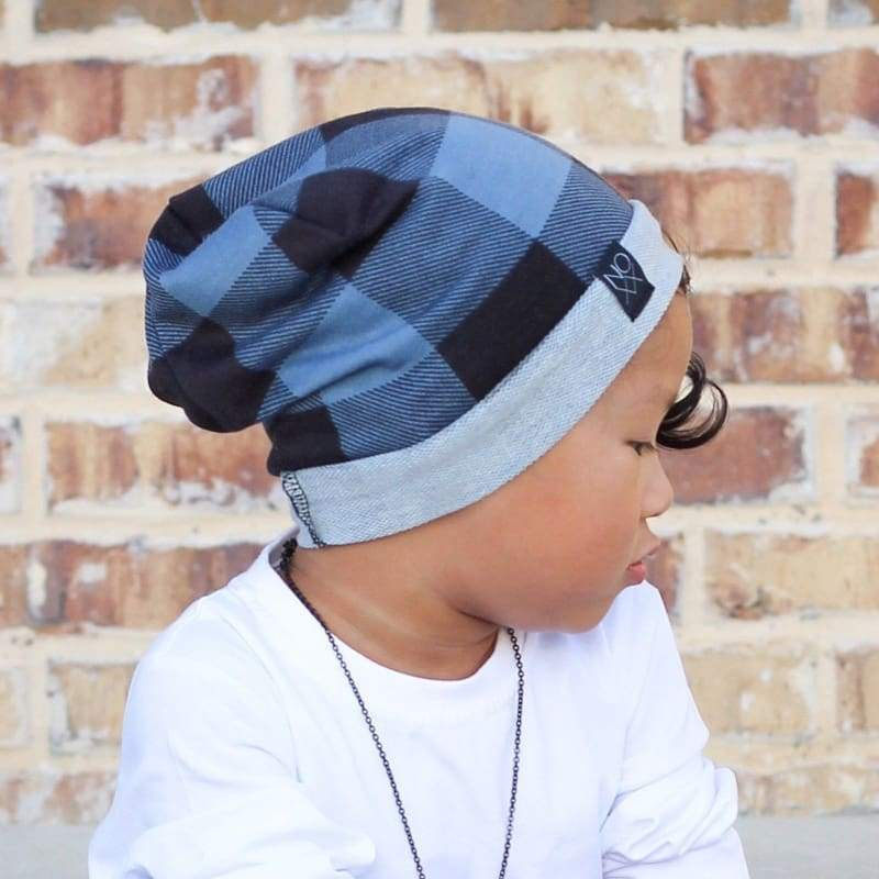 Blue Buffalo Plaid | Signature Style Beanie