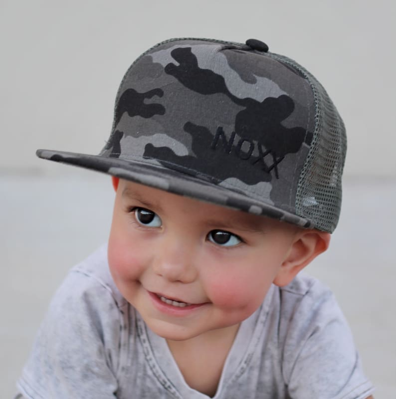 Charcoal Camo Trucker Hat - Youth - Hats