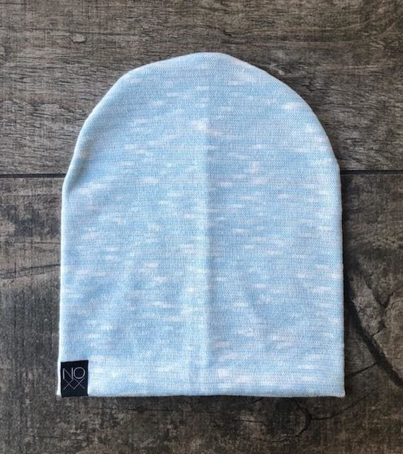 Light Blue Slub | Sweater Knit Beanie - Beanies