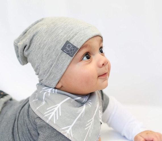 Light Grey | Jersey Knit Beanie - Beanies