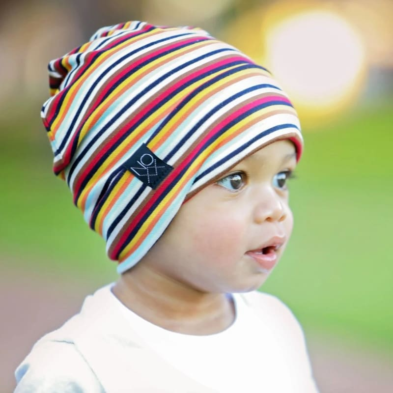 Multi Stripes | Jersey Knit Beanie - Beanies