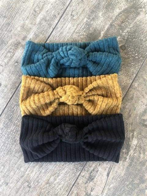 Multiple Color Choices | Cozy Ribbed Knit Headbands - Headbands