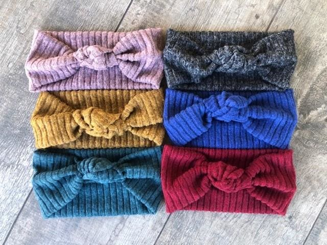 Multiple Color Choices | Cozy Ribbed Knit Headbands