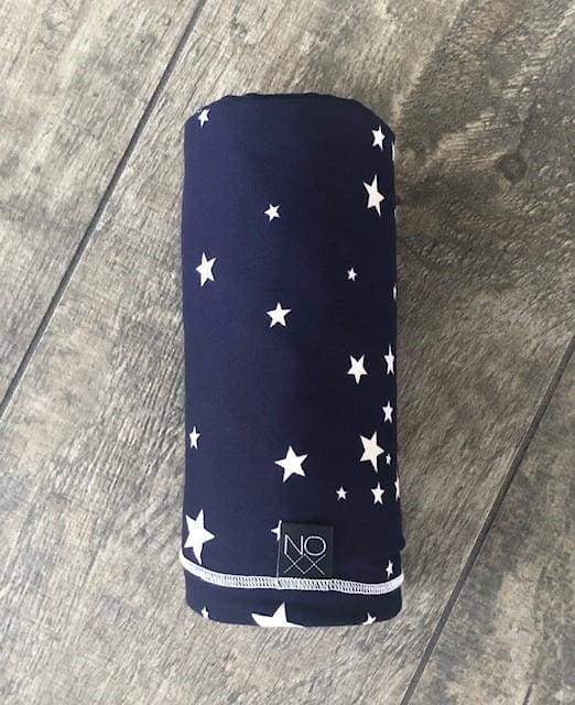 Navy Scattered Stars | Swaddle or Kids Throw Blanket