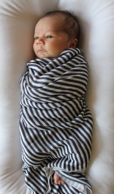 Navy Stripes | Swaddle Or Kids Throw Blanket - Blankets