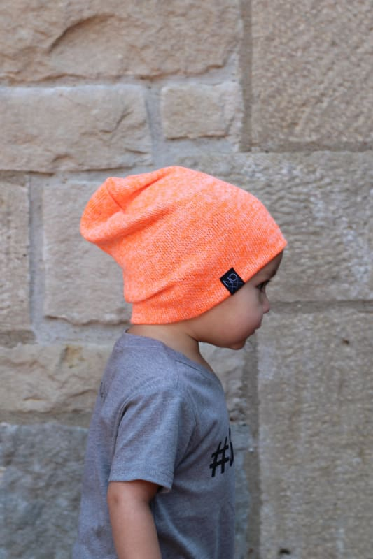 Neon Orange | Sweater Knit Beanie - Beanies