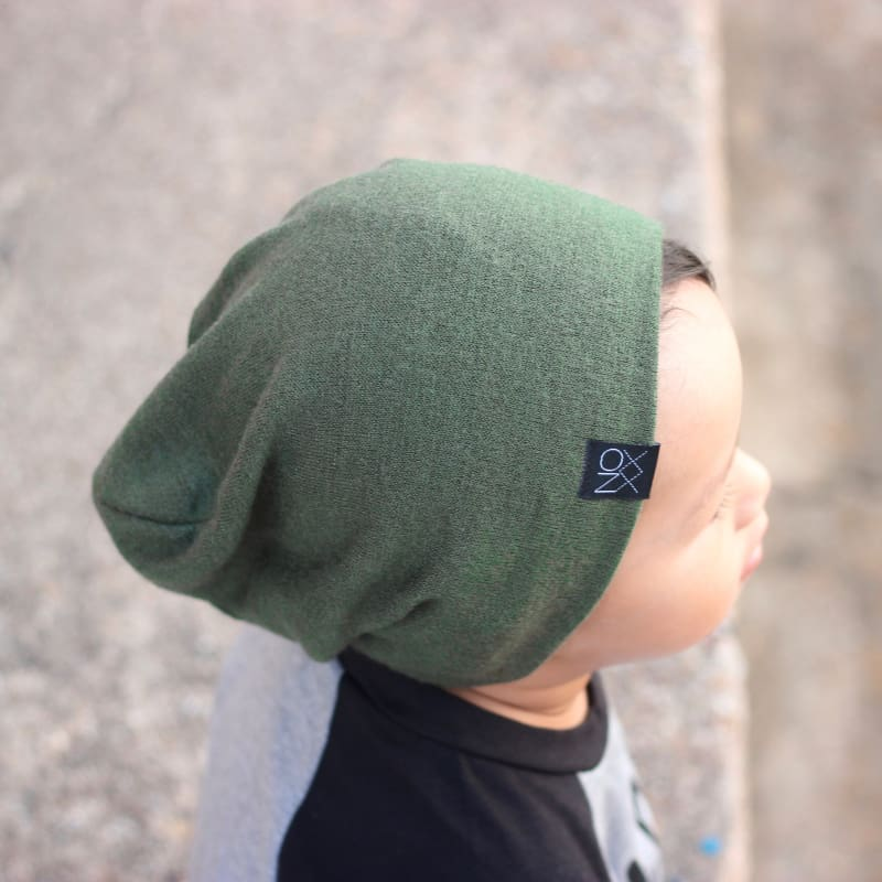 Olive | Sweater Knit Beanie - Beanies