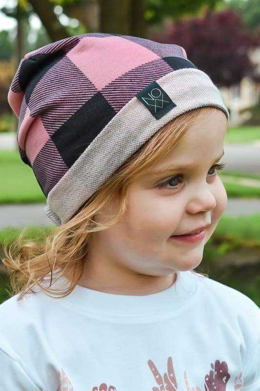 Pink Buffalo Plaid | Signature Style Beanie