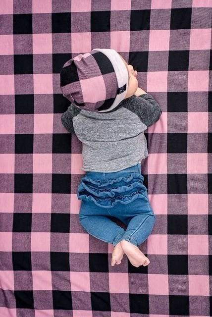 Pink Buffalo Plaid | Swaddle or Kids Throw Blanket