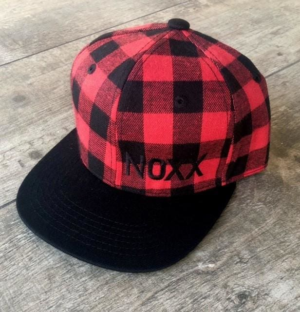 Red/Black Buffalo Plaid Snapback - Youth