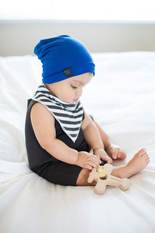 Royal Blue | Jersey Knit Beanie - Beanies