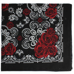 Load image into Gallery viewer, Red Rose Print Cotton Bandana - Wanderlustre
