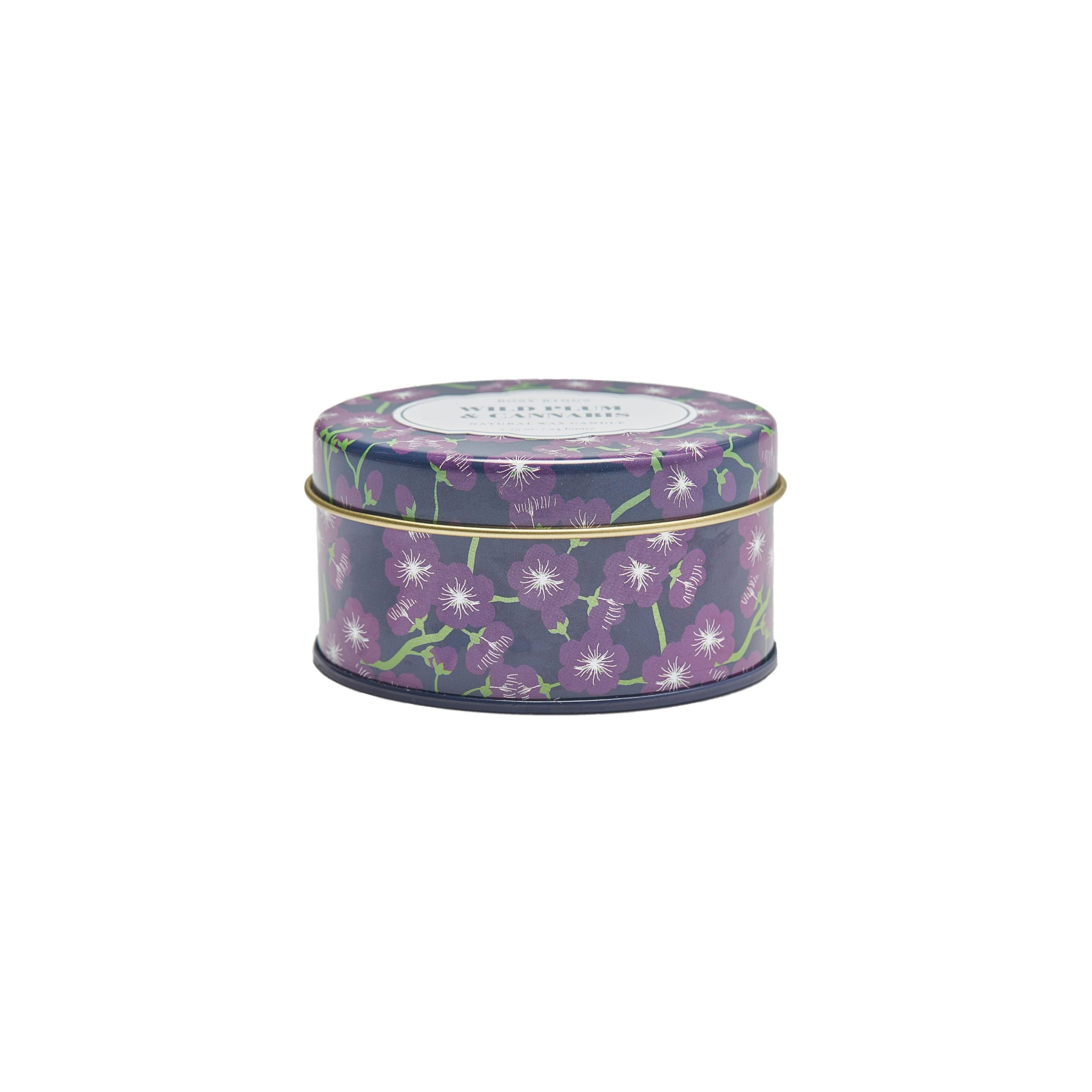 Rosy Rings Wild Plum & Cannabis Travel Tin Candle