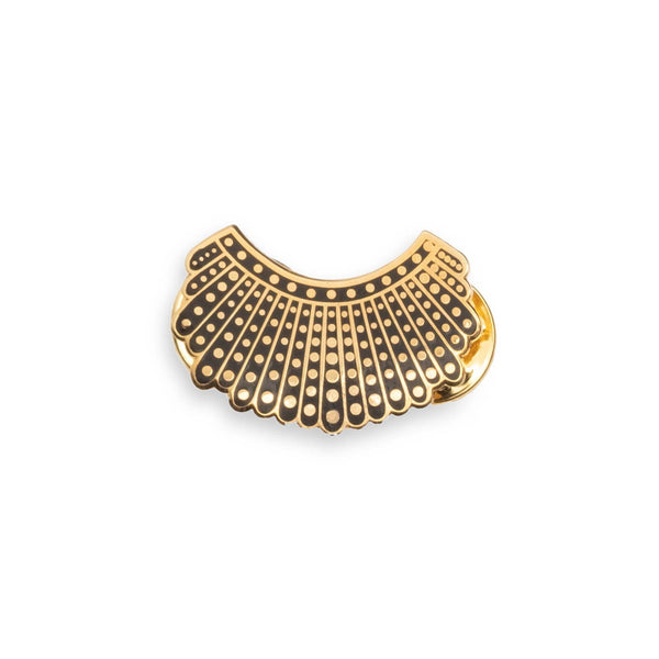 RBG Dissent Collar Pin - 24k Gold Plated