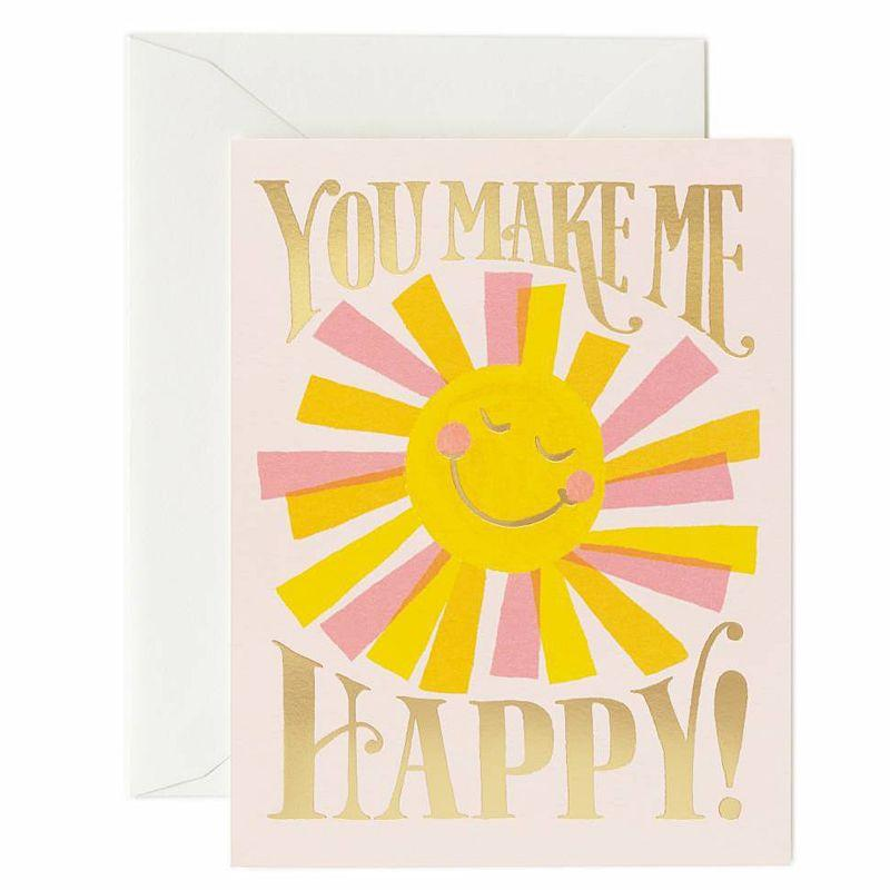You Make Me Happy Card - Wanderlustre
