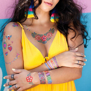 Flash Tattoos Maya Temporary Tattoo Set