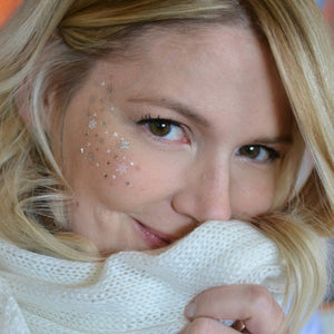 Flash Tattoos Snowflake Eye Jewel Temporary Tattoos