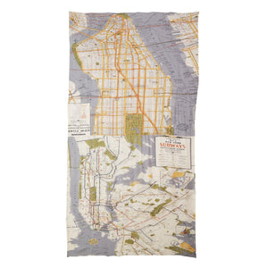New York Map Scarf - Wanderlustre