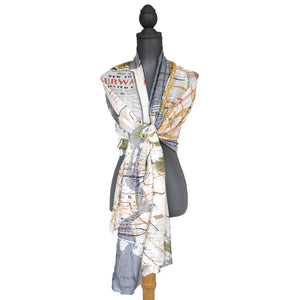 New York Map Scarf