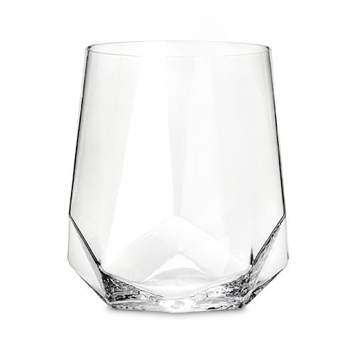 Faceted Crystal Wine Glasses (set of 2) - Wanderlustre