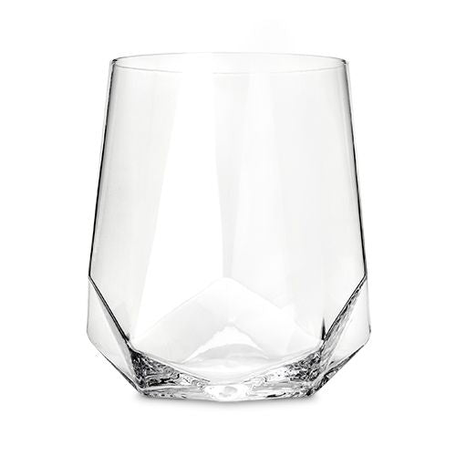 Faceted Crystal Wine Glass (set of 2) by Viski