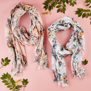 Fairytale Birds and Flowers Scarves - Wanderlustre