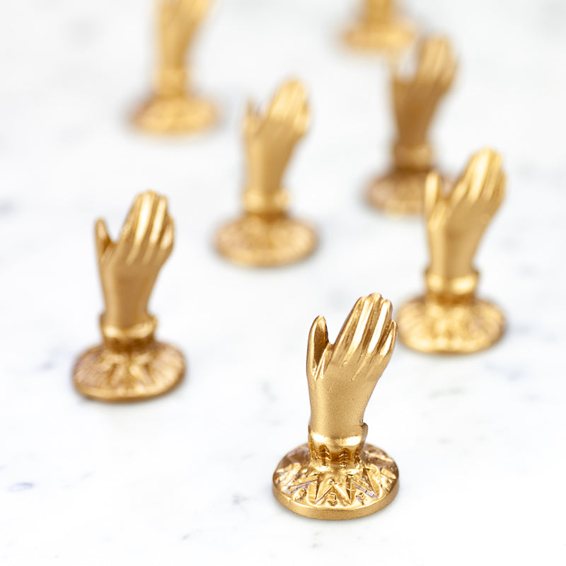 Gold Little Hand Card Holder - Wanderlustre