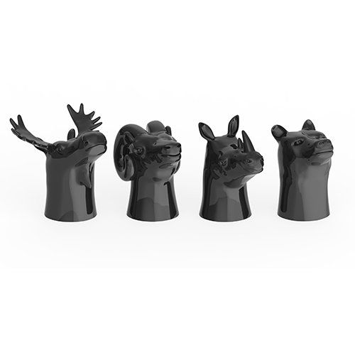 Ceramic Animal Head Shot Glasses (set of 4) - Wanderlustre