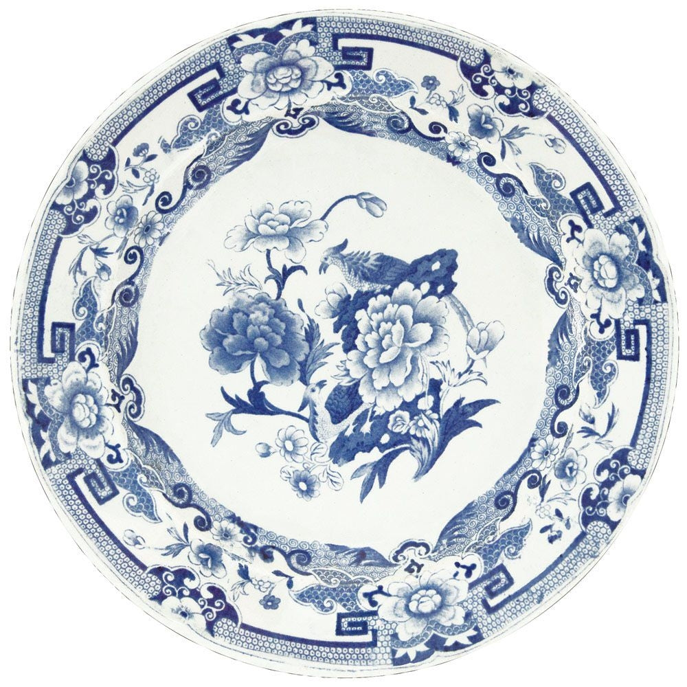 Caspari Blue and White Placemat - Wanderlustre