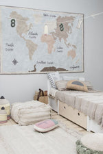 Load image into Gallery viewer, Vintage Map Washable Rug - Wanderlustre