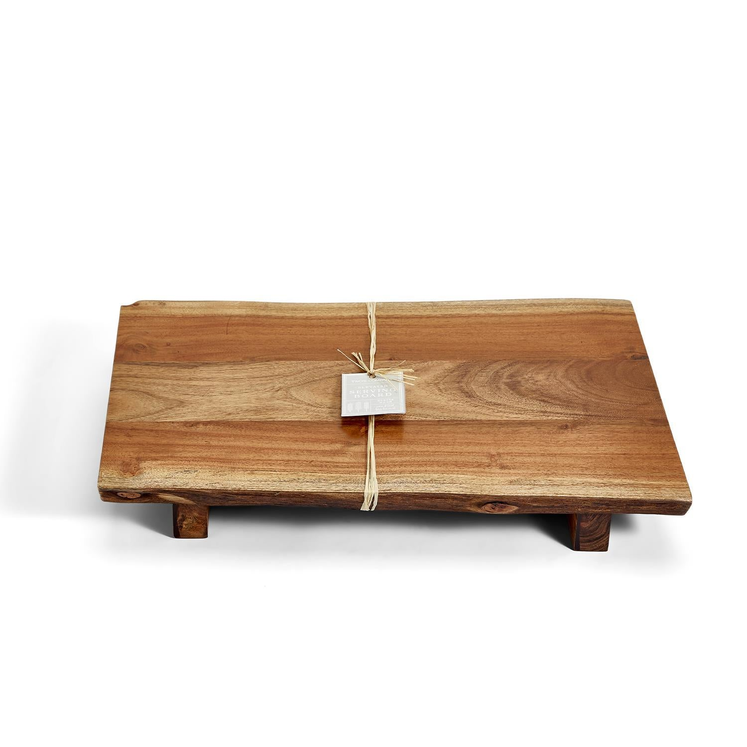 Acacia Wood Elevated Serving Board