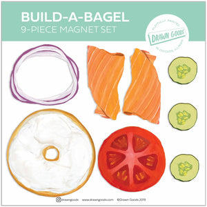Build a Bagel Stackable Magnet Set