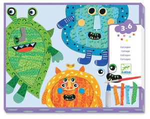 Happy Monsters Collage Kit by Djeco