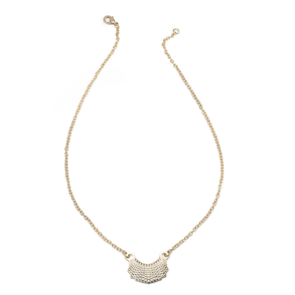 RBG Dissent Collar Necklace - 24k Gold Plated