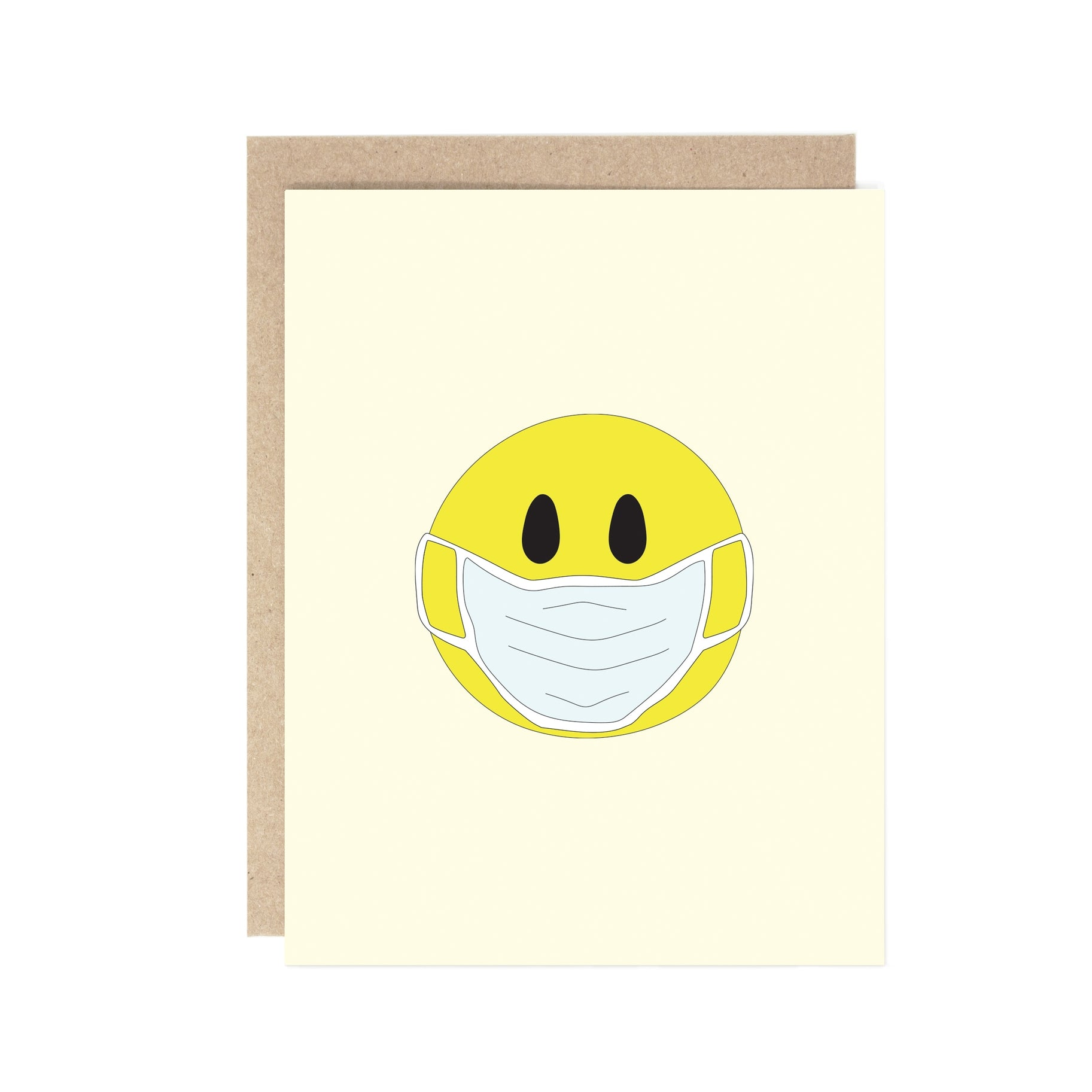 Masked Smiley Face Card