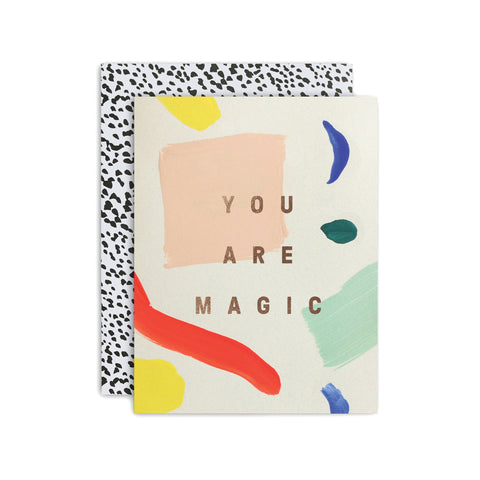 Moglea Hand-Painted Card - You Are Magic