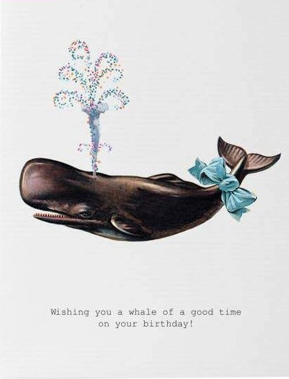 A Whale Of A Good Time Birthday Card