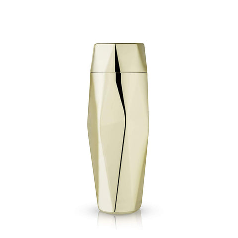 Apex Faceted Gold Cocktail Shaker