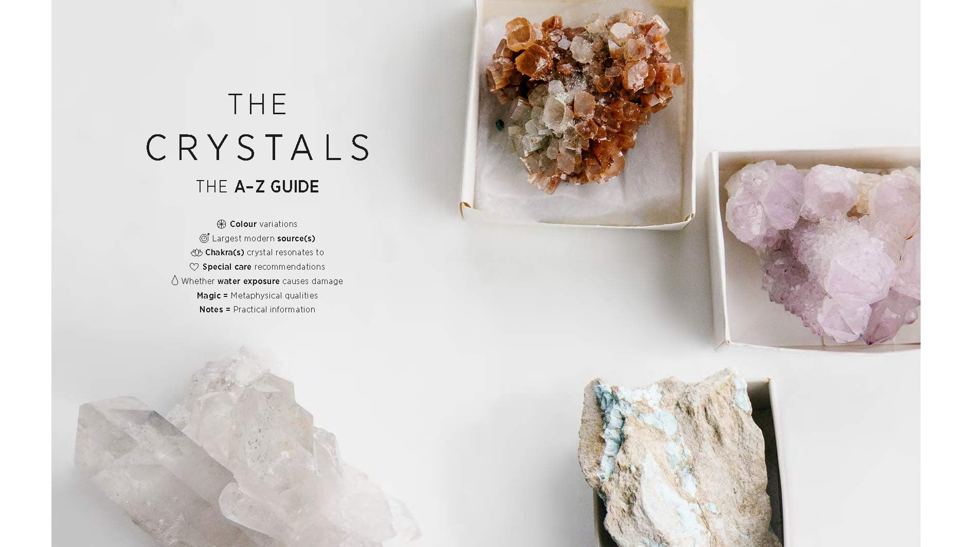 Crystals: The Modern Guide to Crystal Healing - Wanderlustre