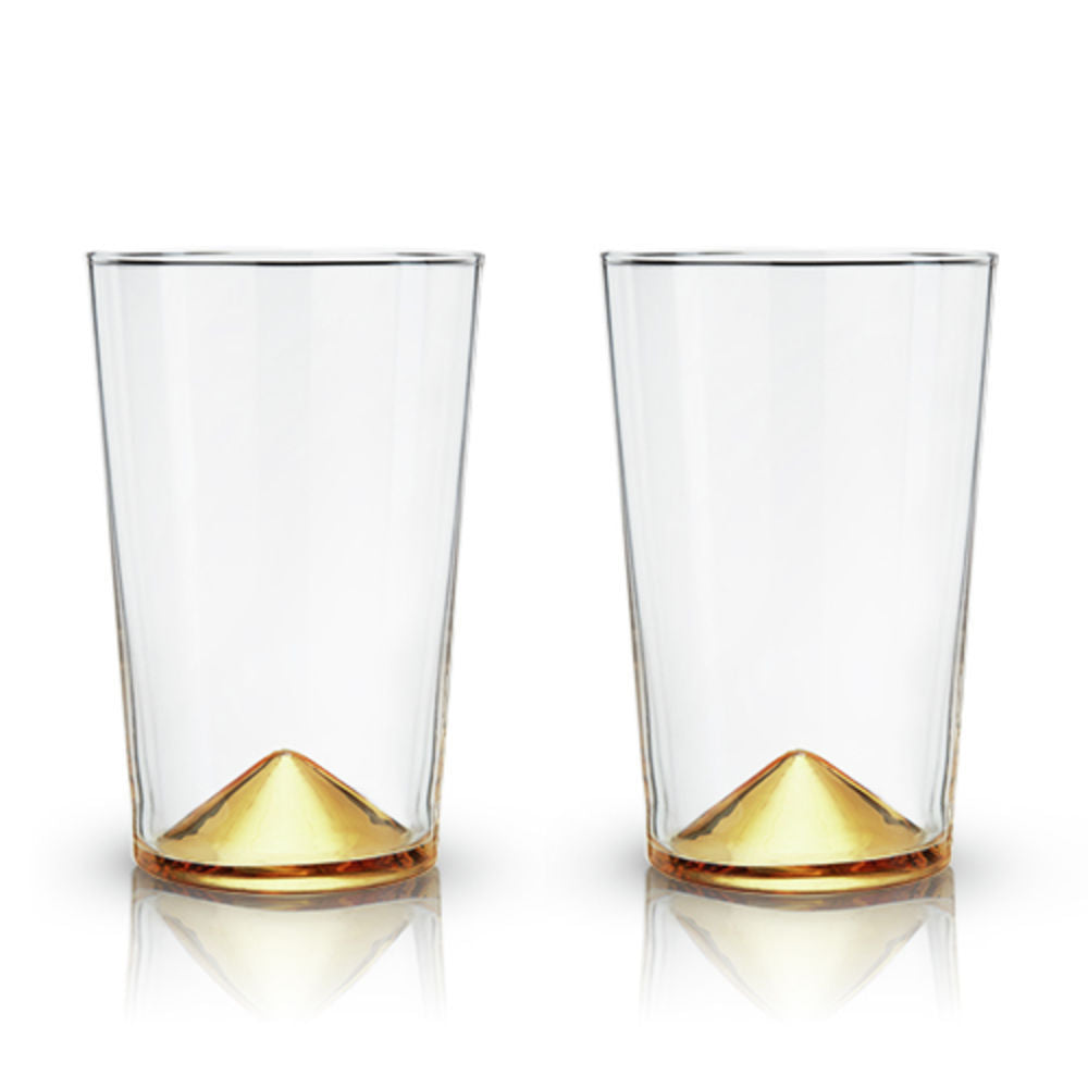 Gold Pointed Cocktail Tumblers (set of 2) - Wanderlustre