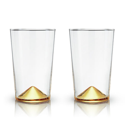 Gold Pointed Cocktail Tumblers (set of 2)