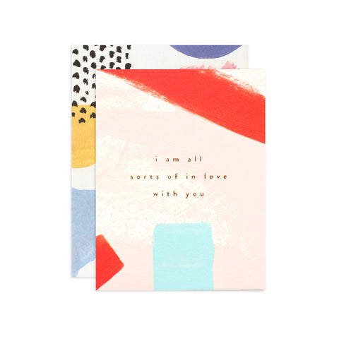 Moglea Hand-Painted Card - In Love With You